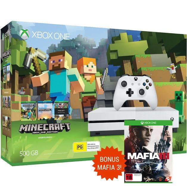 Xbox One S 500GB Minecraft Favorites Console Bundle for Xbox One image