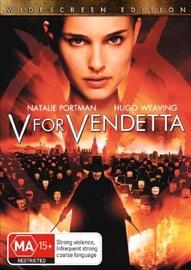 V For Vendetta on DVD