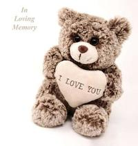 In Loving Memory Funeral Guest Book, Celebration of Life, Wake, Loss, Memorial Service, Love, Condolence Book, Funeral Home, Missing You, Church, Thoughts and in Memory Guest Book, Teddy (Hardback) by Lollys Publishing