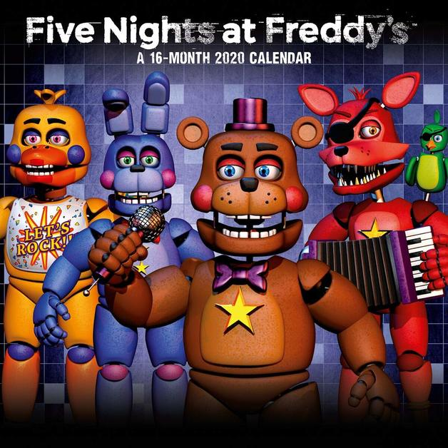 Official Five Nights At Freddys 2020 Square Wall Calendar