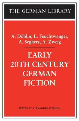 Early 20th Century German Fiction by Alfred Doblin