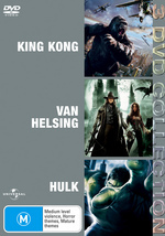 King Kong (2005) / Van Helsing / Hulk - 3 DVD Collection (3 Disc Set) on DVD