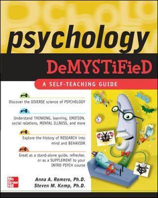 Psychology Demystified by Anna Romero