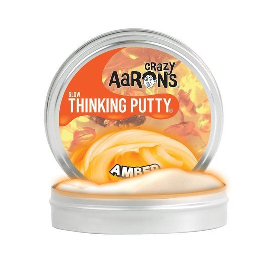Crazy Aarons Thinking Putty: Amber - Mini Tin image