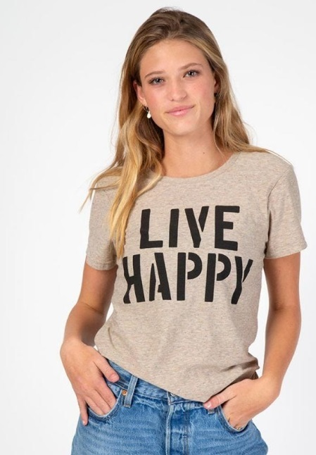 Natural Life: Perfect Fit Tee - Live Happy (Small)