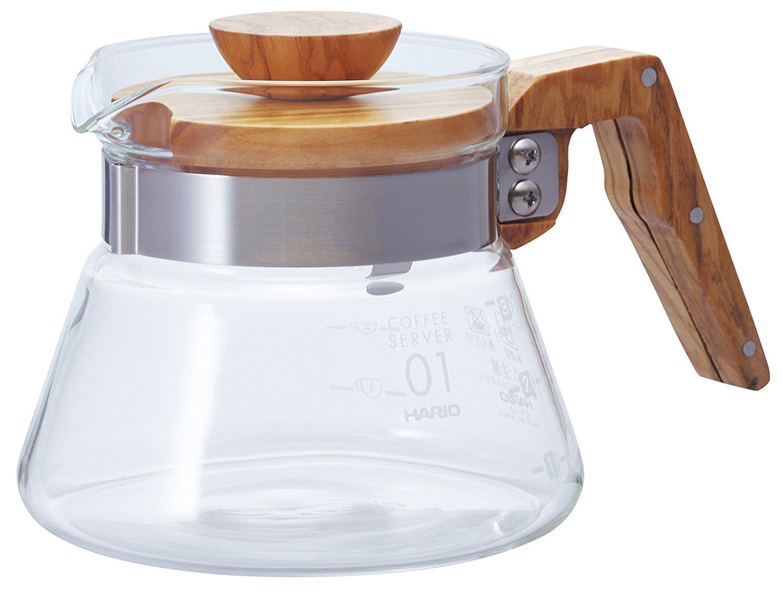 Hario: V60 Glass Coffee Server 02 - Olive Wood (400ml) image