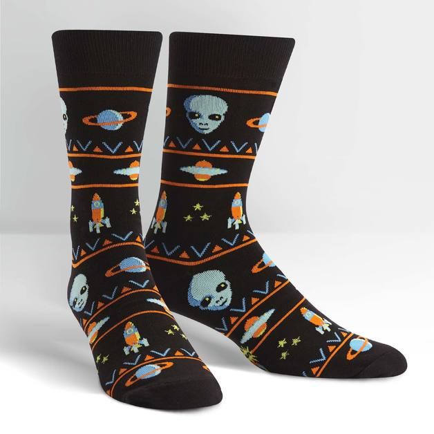 Men's - Alien Sweater Sighting Crew Socks