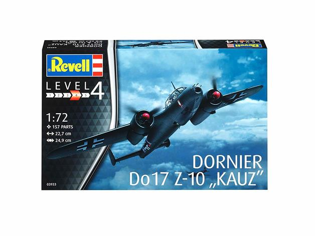 "Revell 1:72 Dornier Do17 Z-10 ""Kauz"" Model Kit"