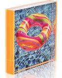 Highlight Square Frame - Fluoro Orange