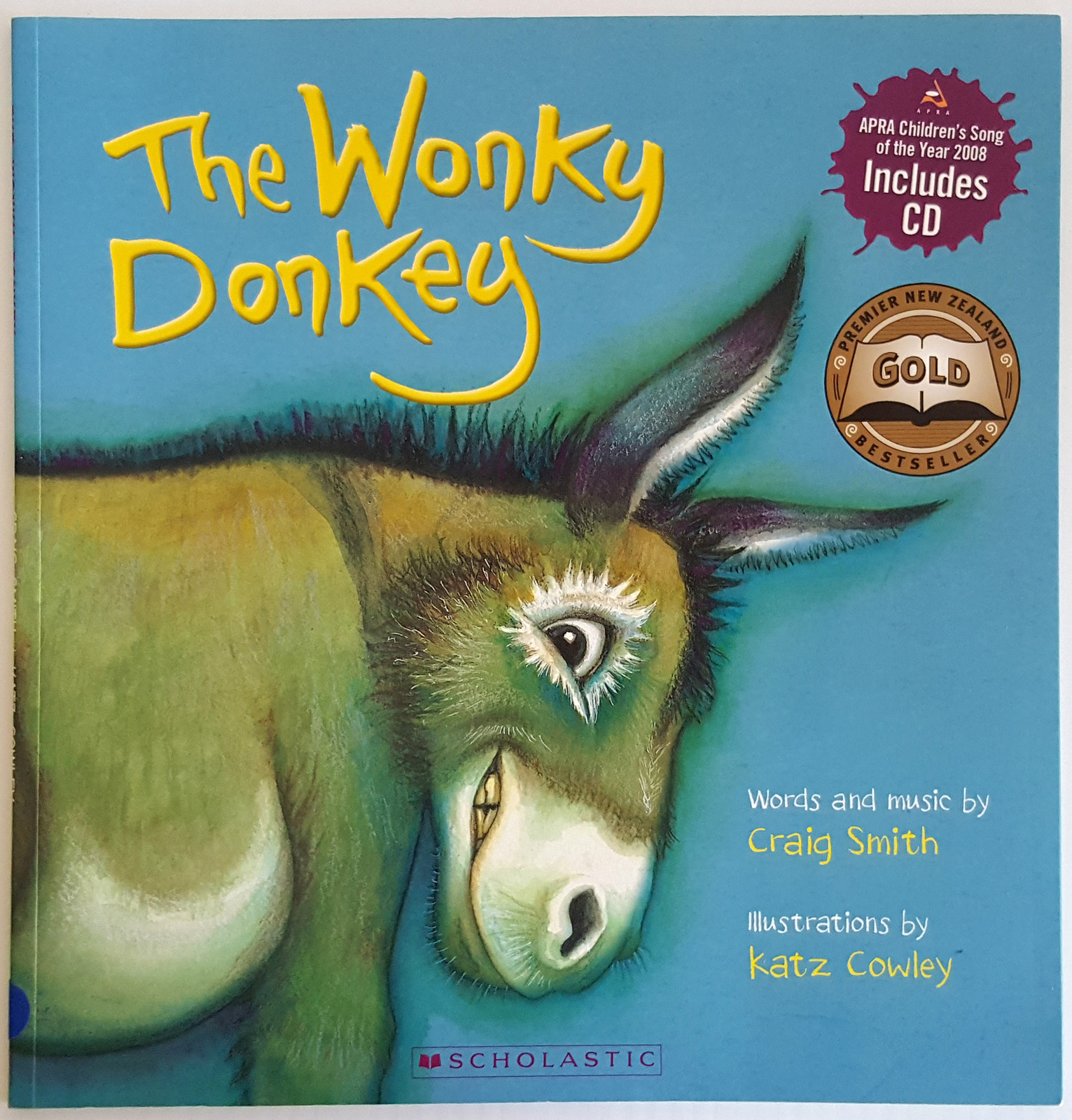 The Wonky Donkey (Book + CD) by Craig Smith image