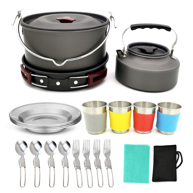Outdoor Camping Kitchen Cook Set - 19 Piece