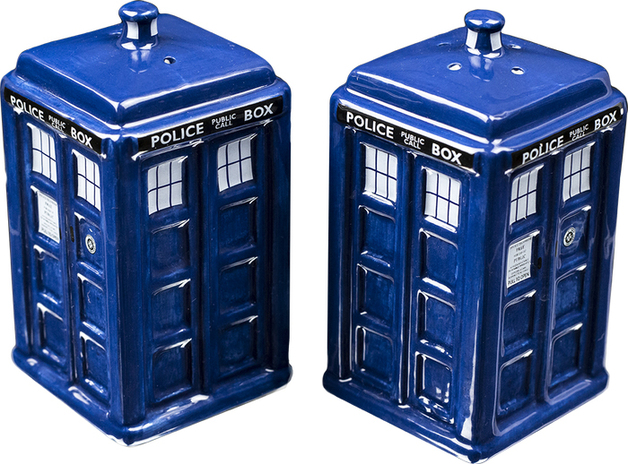 Doctor Who TARDIS Salt & Pepper Shaker Set