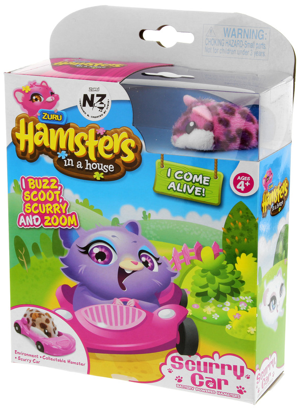New Hamsters in a House ~ Scurry Car ~ Collectable Hamster ~ Poppy
