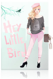 Lockable Diary - Hey Little Bird