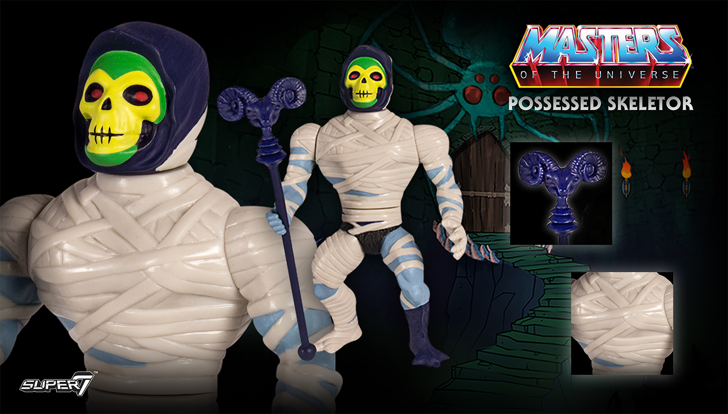 Masters of the Universe - Possessed Skeletor Vintage Action Figure image