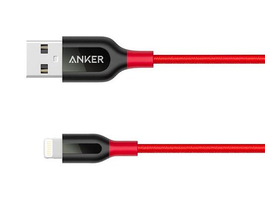 ANKER: PowerLine+ Lightning 6000 bend MFI certified Braided Nylon - 0.9m/Red