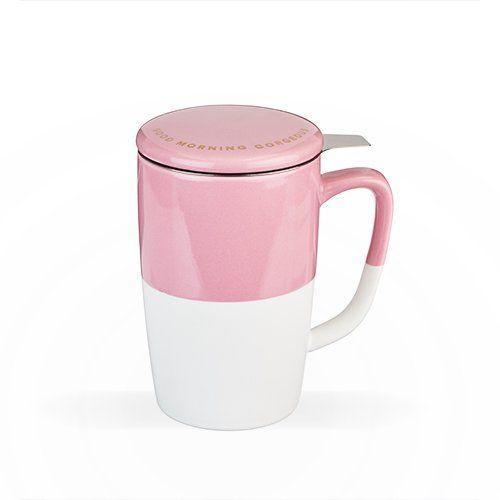 Delia: Tea Mug & Infuser - Pink
