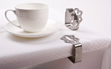 Stainless Steel Tablecloth Clips - Set of 4 Gecko