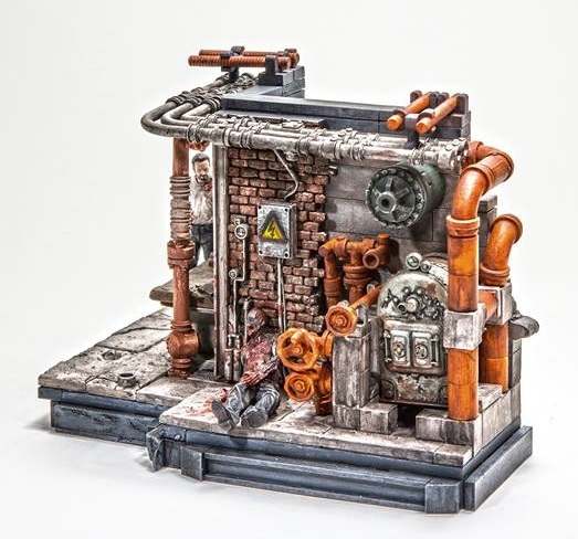 The Walking Dead Prison Boiler Room Set