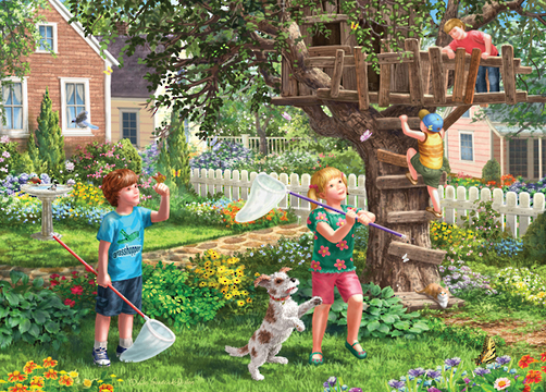 Holdson: Young at Heart - Treehouse Play - 500 Piece XL Puzzle image