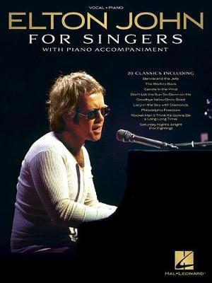 ELTON JOHN FOR SINGERS VCE/PF BK by Elton John