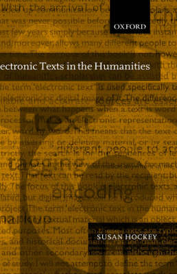 Electronic Texts in the Humanities by Susan M. Hockey image