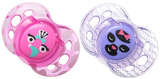 Closer to Nature Fun Style Soother 6-18 Months (Pink and Purple) - 2 Pack