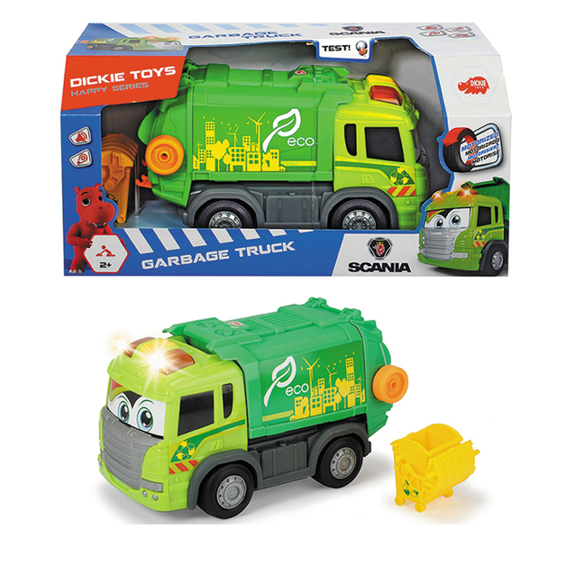 Dickie Toys: Happy Garbage Truck - Motorised Vehicle