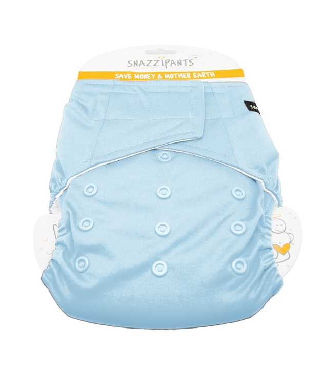 Snazzipants: All in One Reusable Nappy - Pale Blue