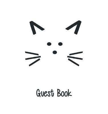 Cat Guest Book, Guests Comments, B&b, Visitors Book, Vacation Home Guest Book, Beach House Guest Book, Comments Book, Visitor Book, Holiday Home, Retreat Centres, Family Holiday Guest Book (Hardback) by Lollys Publishing image