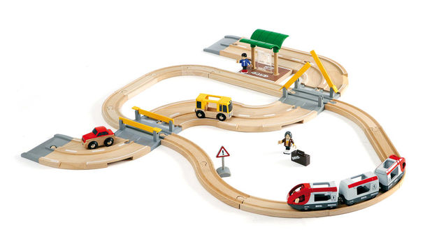 Brio: Railway - Rail & Road Travel Set