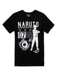 Naruto: 07 Nine Tails Mens T-Shirt - Black (Small)