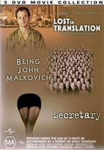 Quirky Comedy Collection - Lost In Translation / Being John Malkovich / Secretary (3 Disc Box Set) on DVD