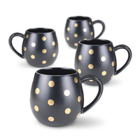 Robert Gordon: Hug Me Mug Set (Black and Gold Spot)