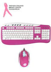 Saitek Pink Multimedia Keyboard & Mouse