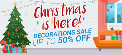Christmas Decorations up to 50% off!