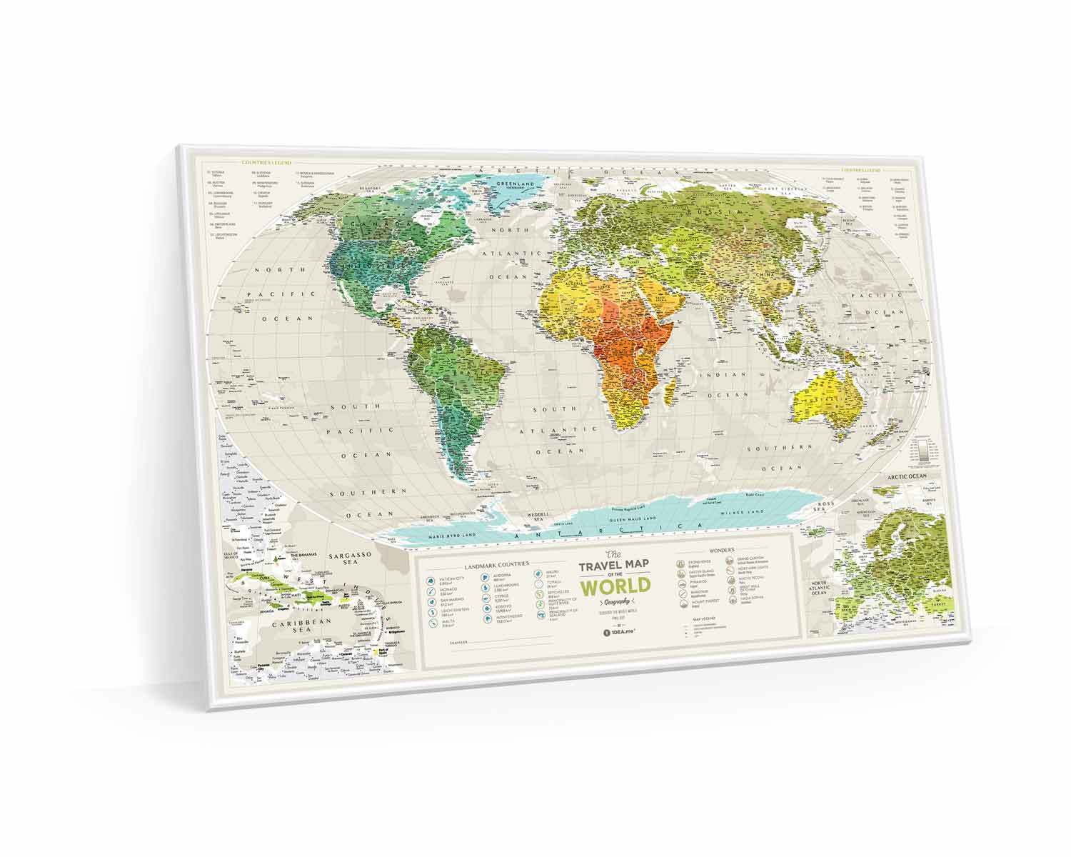 Scratch-off maps Travel Map Geography World image