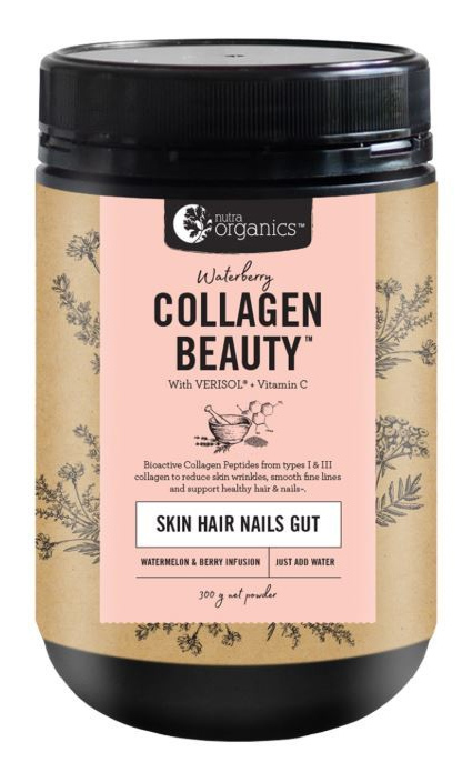 Nutra Organics Collagen Beauty with Verisol+C - WaterBerry (300g)