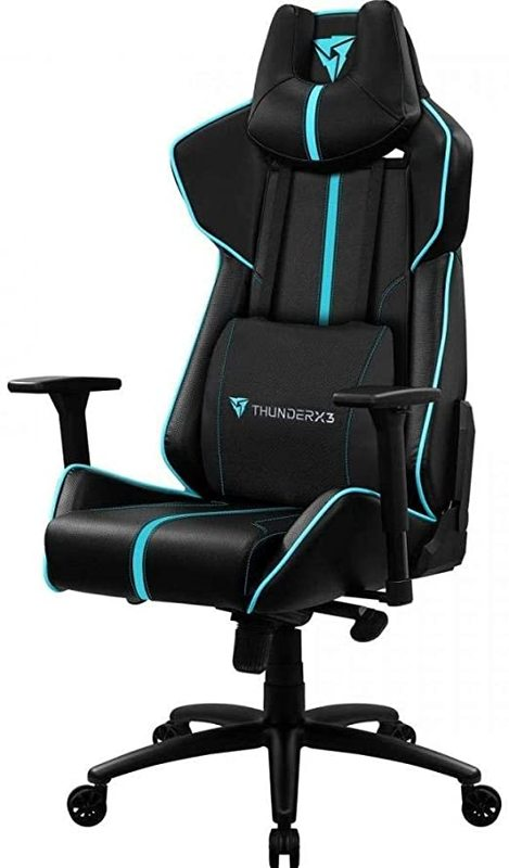 ThunderX3 BC7 Breathable Pinhole Gaming Chair (Black & Cyan) for