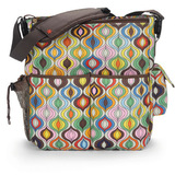 Skip Hop: Jonathan Adler Duo Deluxe Nappy Bag - Wave Multi