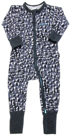 Bonds Zip Wondersuit Long Sleeve - Sketch Leopard (3-6 Months)