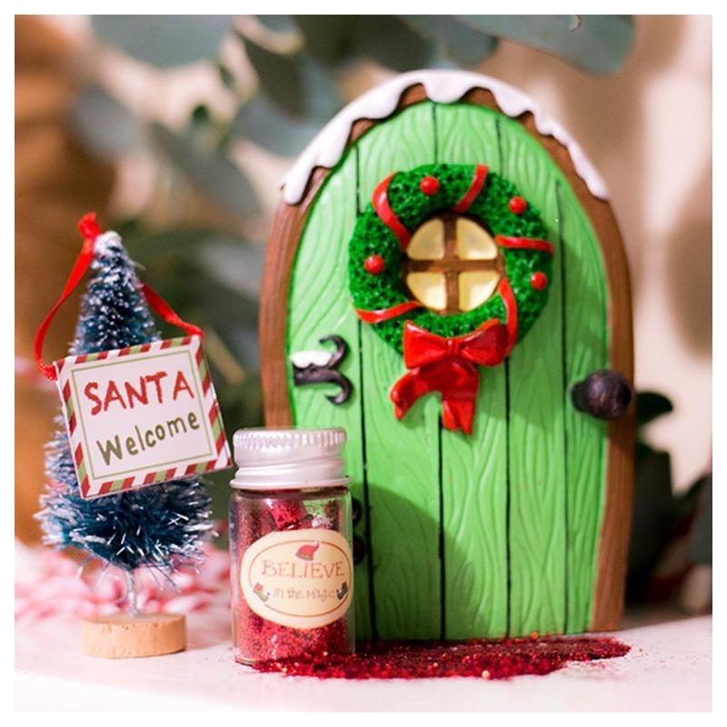 Christmas Elf Door - Green image