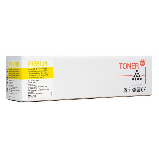 Icon: Compatible Brother TN255 - Yellow Toner Cartridge