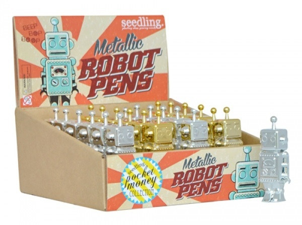 Seedling: Metallic Robot Pen - (Assorted Designs)