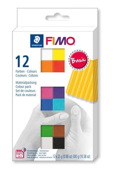 Staedtler Fimo Soft Modelling Clay - Set Of 12 Half Blocks (Assorted Colors)