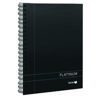 Spirax 400 Platinum Notebook A4 - Black