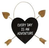 Golden Arrow Heart Plaque - Every Day Is An Adventure