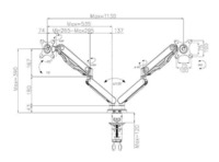 """Loctek: DLB530D Dual Monitor Gas Arm Desk Mount (10""""-30"""") image"""