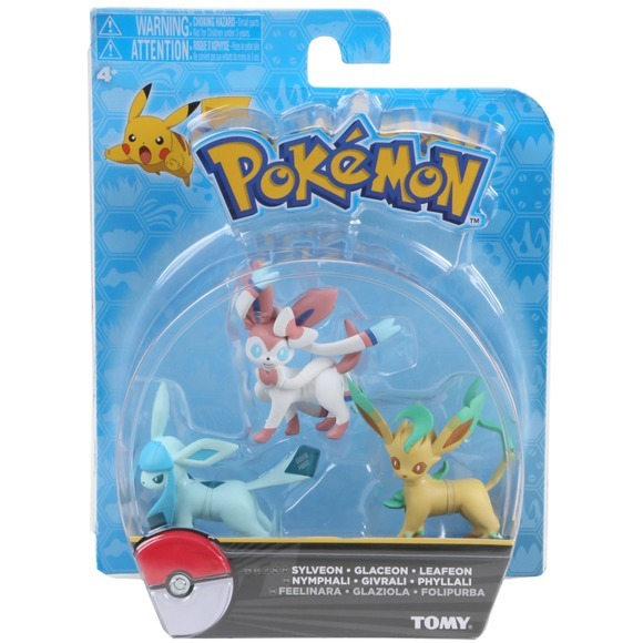 Pokemon: Eevee Evolution 3 Pack - Glaceon, Leafeon, Sylveon