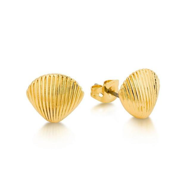 Couture Kingdom: Disney Shell Stud Earrings - Gold